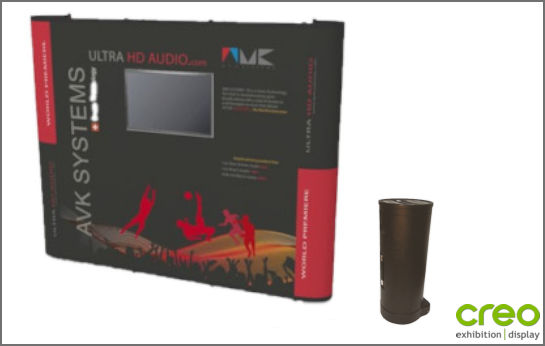 Image of a Nomadic Display P33 Pop-up Stand with Monitor
