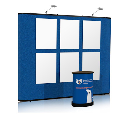 Image of a Fabric Panel Nomadic Display C33 Pop Up Stand