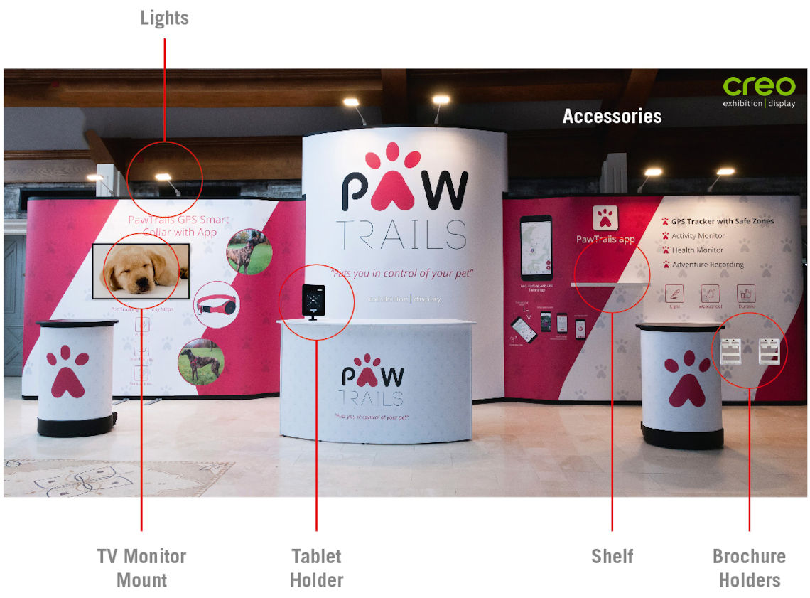 Image of accessories for your Popup Display Stand
