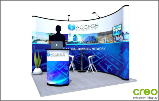 Exhibition Stand Pop Up : Curved pop up stands nomadic curved popup display stand popup