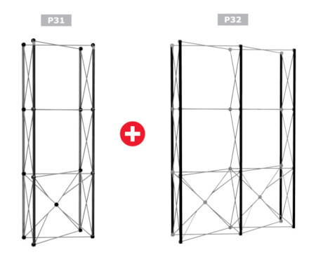Image of a Nomadic Display P31 + P32 Popup Stand Frame