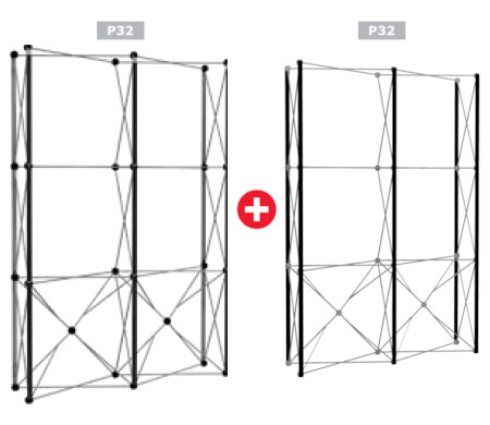 Image of a Nomadic Display P32 + P32 Popup Stand Frame