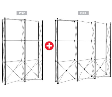 Image of a Nomadic Display P32 + P33 Popup Stand Frame