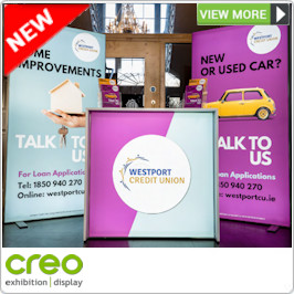 Premium LED Backlit Display Stand from Creo Ireland