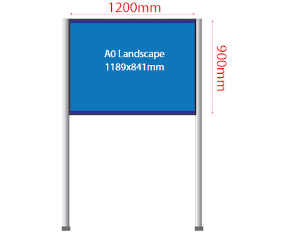 Image of a Panel & Pole Fabric Board Display Unit