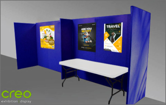 Image of a Fabric Wall and Fabric Booth Stand to Rent from Creo Ireland