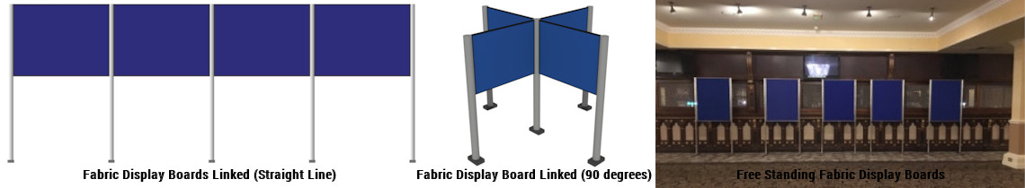 Fabric Panel & Pole Stand Configurations