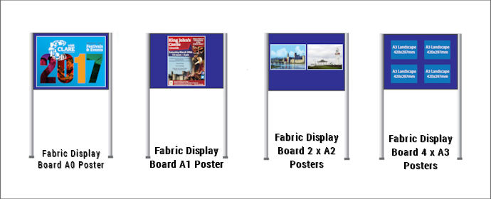 Image of Fabric Panel & Pole Stands