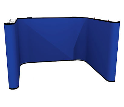 Image of an Instand Fabric U Shape Stand