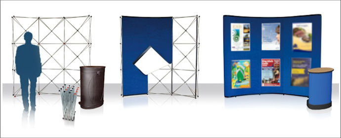 Image of a Popup Fabric Panel Stand