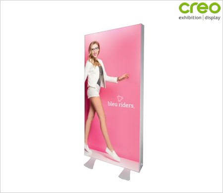 Image of a 125mm Vector LED Freestanding Lightbox