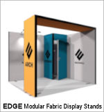 Image of an EDGE Modular Fabric Display Stand