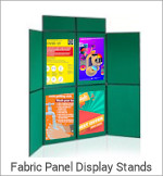 Image of a Fabric Panel Display Stand