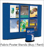 Image of a Fabric Poster Display Stand