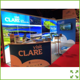 Image of a Clare Tourism Backlit Stand from Creo Ireland