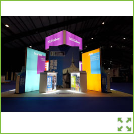 Image of a LED Backlit Tower Exhibition Stand from Creo Shannon