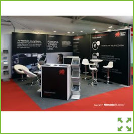Image of a Corner Display stand with Meeting Area from Creo Ireland