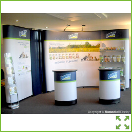 Image of Curved Corner Popup Display Stand from Creo Shannon
