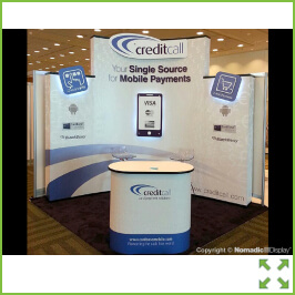Image of Curved Corner Popup Stand from Creo Shannon
