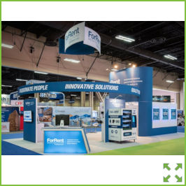 Image of an Exhibition Stand with Overhead Displays from Creo Ireland