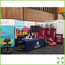 Image of a GMIT Backwall Display Stand from Creo Ireland