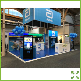 Image of an Island Exhibition Stand from Creo Ireland