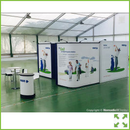 Image of Island Pop-Up Display Stand from Creo Shannon