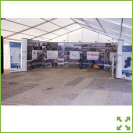Image of the Limerick Tunnel Exhibition Stand from Creo Shannon