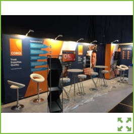 Image of a Linear Exhibition Stand from Creo Ireland