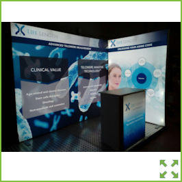Image of an Nomadic Display Corner Backlit Stand from Creo Ireland