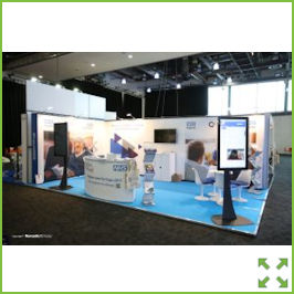 Image of an Nomadic Display Exhibit Stand with Monitor from Creo Ireland