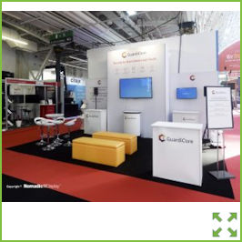 Image of an Nomadic Display Stand with Meeting Area from Creo Ireland
