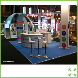 Image of an Nomadic Exhibition Stand with Arches from Creo Ireland