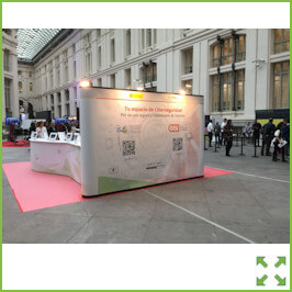 Image of an Nomadic Pop-up Display with Counter Display from Creo Ireland