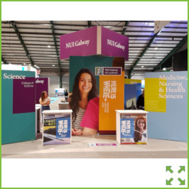 Image of a NUIG Stand RDS 2019 from Creo Ireland