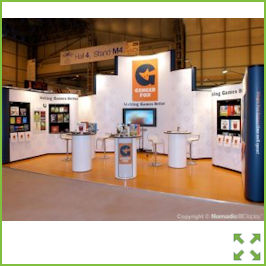Image of a Popup Exhibition Stand with large Flat Screen from Creo Ireland