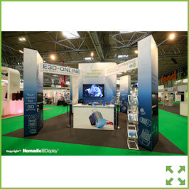 Image of an Popup Stand with Bridges from Creo Ireland