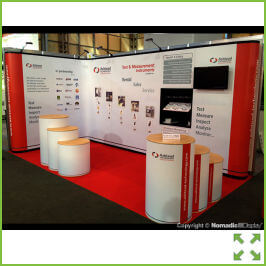 Image of Straight Corner Pop Up Display Stand from Creo Shannon