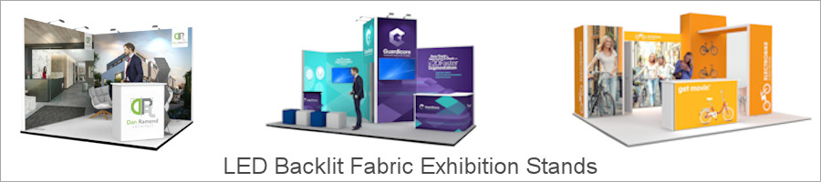 Image of LED Backlit Fabric Exhibition Stands