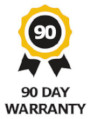 Image of a Nomadic 90 Day Warranty Badge