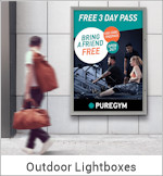 Image of an Outdoor Lightbox