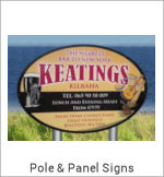 Image of a Pole & Panel Sign
