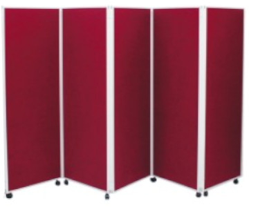 Image of a Covid-19 5 Panel Screen Divider