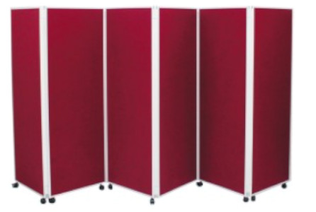 Image of a Covid-19 6 Panel Screen Divider