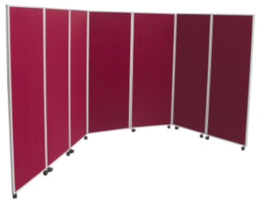 Image of a Covid-19 7 Panel Screen Divider