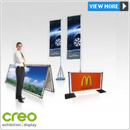 Outdoor Displays - Banners, Flags, Tents, Teardrops, Counters