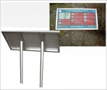 Image of an Outdoor Pedestal Sign