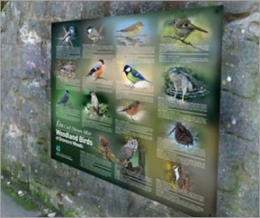 Image of an Outdoor Wall Mounted Sign