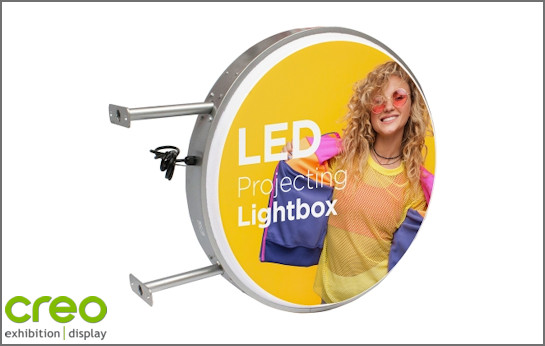 Image of a Round Projecting LED Lightbox