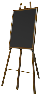 Image of Easel Chalk Board Frame